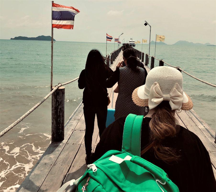 bridge to a ferry