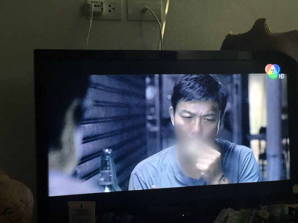smoking man censured on thai tv